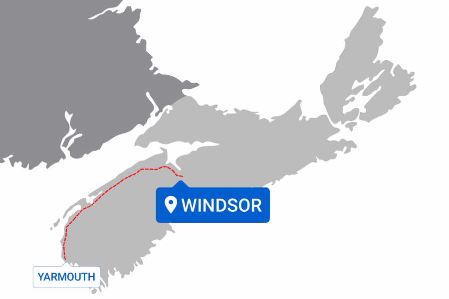 Map of destinations from Windsor